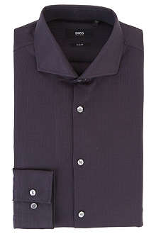 HUGO BOSS Jason pin-dot single-cuff dress shirt