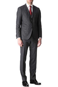 HUGO BOSS Reese/Win slim-fit three-piece checked suit