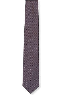 HUGO BOSS Micro polka dot silk tie