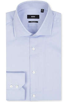HUGO BOSS Regular-fit birdseye shirt