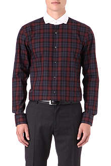 HUGO BOSS Plaid cotton shirt