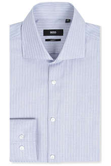 HUGO BOSS Slim-fit ladder-stripe shirt
