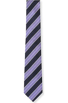 HUGO BOSS Textured club stripe silk tie