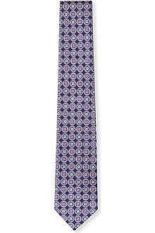 HUGO BOSS Floral tiles tie