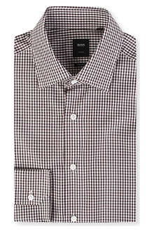 HUGO BOSS Stirling regular-fit single-cuff gingham shirt