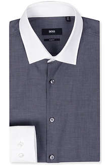 HUGO BOSS Contrast collar single-cuff shirt