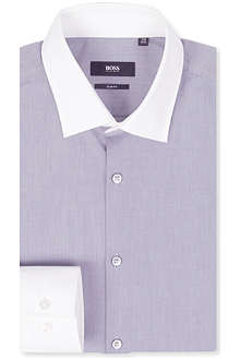 HUGO BOSS Contrast-collar single-cuff shirt