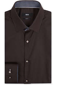 HUGO BOSS Slim-fit collar print shirt