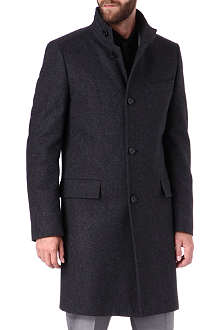 HUGO BOSS Formal funnel-neck wool coat