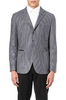 HUGO BOSS Dogtooth wool-blend jacket