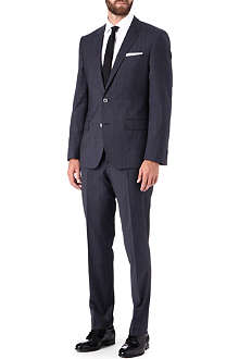 HUGO BOSS Prince of Wales check single-breasted suit