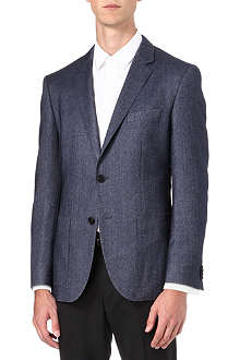 HUGO BOSS The Jesse cashmere-silk herringbone jacket