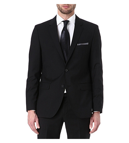 HUGO BOSS Rider wool-blend blazer (Black