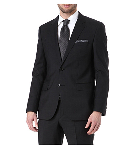HUGO BOSS Rider wool-blend blazer (Grey