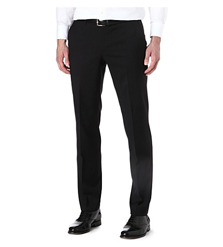 HUGO BOSS Wool suit trousers (Black