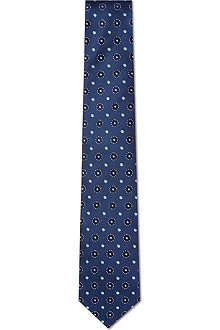 HUGO BOSS Circle pattern silk tie