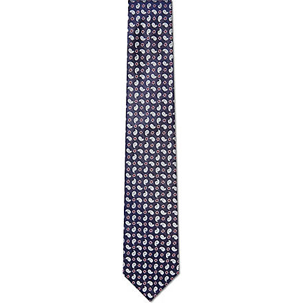 HUGO BOSS Mini paisley tie (Blue