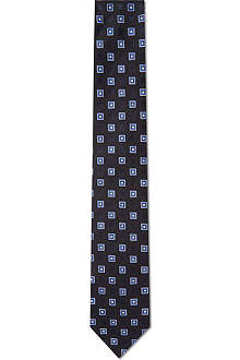 HUGO BOSS Square print silk tie