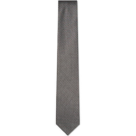 HUGO BOSS Mini diamond print tie (Black
