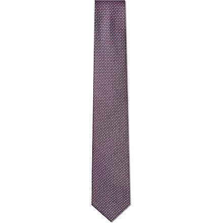 HUGO BOSS Mini diamond print tie (Purple