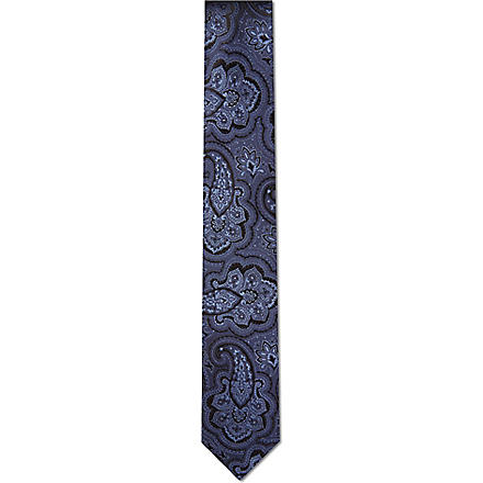 HUGO BOSS Large paisley tie (Blue