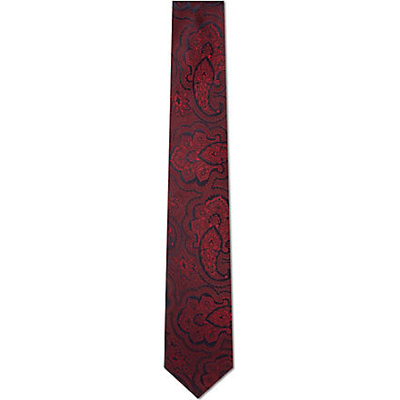 HUGO BOSS Large paisley tie (Pink