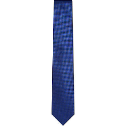 HUGO BOSS Mini square tie (Blue
