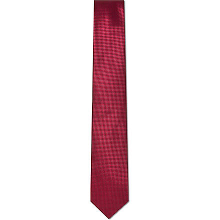 HUGO BOSS Mini square tie (Red