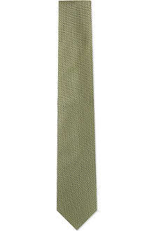 HUGO BOSS Micro square silk tie