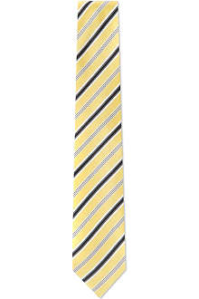HUGO BOSS White varied stripe tie