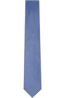 HUGO BOSS Three colour striped silk tie