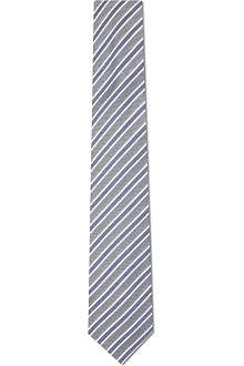 HUGO BOSS Double stripe silk tie