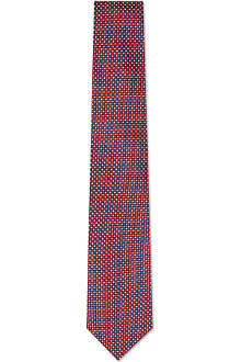 HUGO BOSS Mini tile silk tie