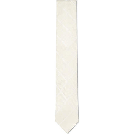 HUGO BOSS Jacquard checked tie (Cream