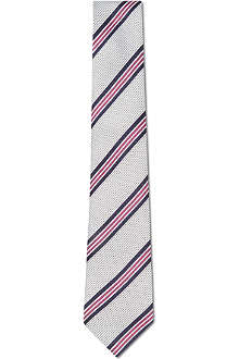 HUGO BOSS Varied stripe silk tie