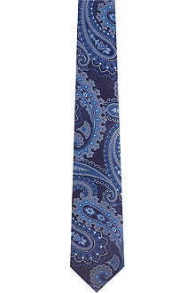 HUGO BOSS Swirly paisley silk tie