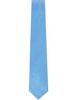 HUGO BOSS Micro text silk tie