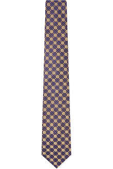 HUGO BOSS Mini geometric floral tie
