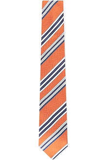 HUGO BOSS Herringbone striped silk tie