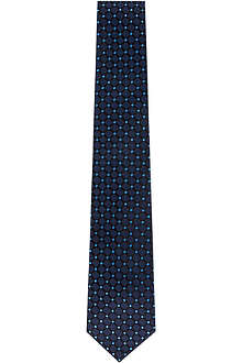 HUGO BOSS Tiled polka dot silk tie