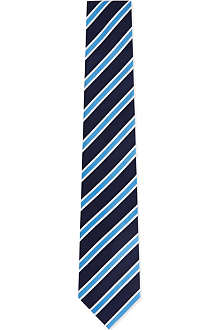 HUGO BOSS White bold striped tie