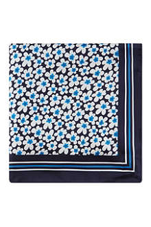 HUGO BOSS Floral silk pocket square