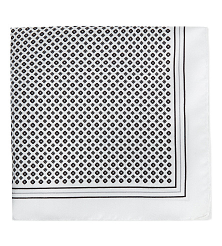 HUGO BOSS Silk pocket square (Black