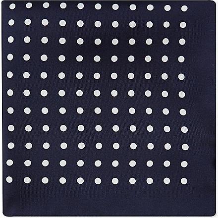 HUGO BOSS Silk pocket square (Navy