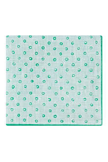 HUGO BOSS Circles linen pocket square