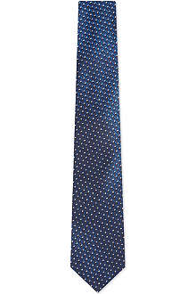 HUGO BOSS Geometric weave tie