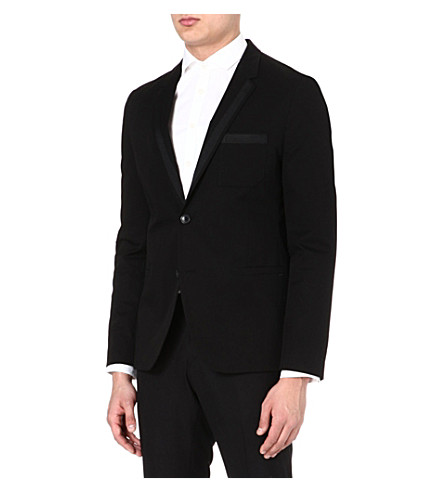 HUGO BOSS Admund cotton-blend jacket (Black