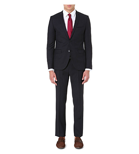 HUGO Tailored wool suit (Black