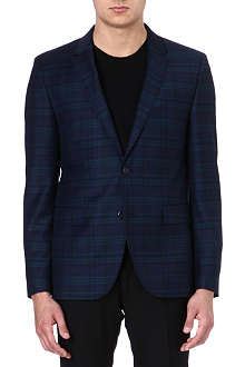 HUGO BOSS Checked wool jacket