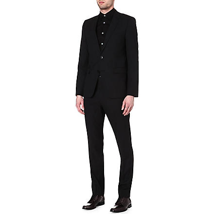 HUGO BOSS Aeron/Hamen wool-blend jacquard suit (Black
